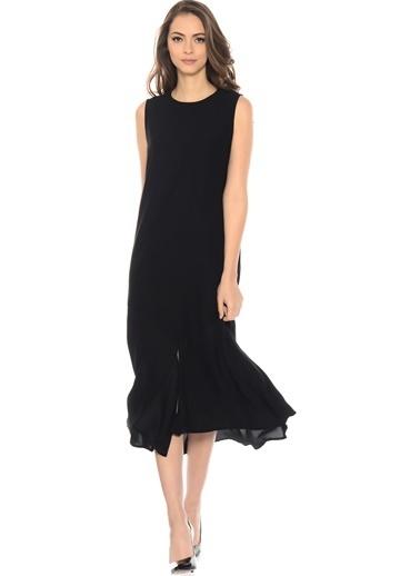 Beymen Studio Kolsuz Midi Elbise Siyah